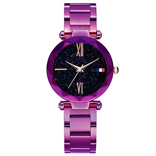 Hannah martin smael orologi da polso impermeabili magnetici elettronici per le donne,purpled4bluelabel