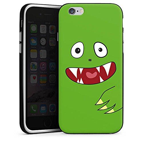 Apple iPhone X Silikon Hülle Case Schutzhülle Monster Kids Kinder Silikon Case schwarz / weiß