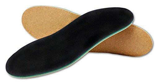 Orthopädische Schuh-Einlage für Normal-Füße und Senkfuß mit Spreiz-Fuß-Stütze und Dämpfungs-Polster, Hand-Made in Germany von Green-Feet (Schuh-Größe: 47-48, neutral Arch = normales Gewölbe) (Neutral Ferse)