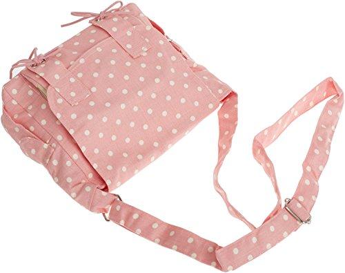 Cute POLKA DOT Punkte MESSENGER BAG Tasche Rockabilly Zartes Rosa mit weißen Punkten