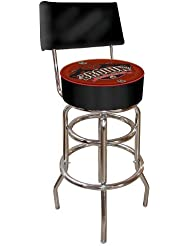 NCAA Brown University Padded Swivel Bar Stool with Back by Trademark Gameroom