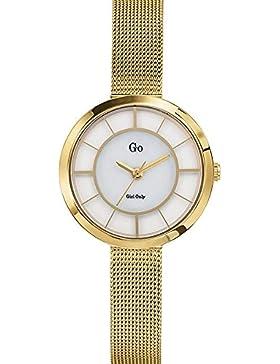 Go Girl Only–695000Damen-Armbanduhr–Quarz Analog–Ziffernblatt Perlmutt–Armband Stahl Gold