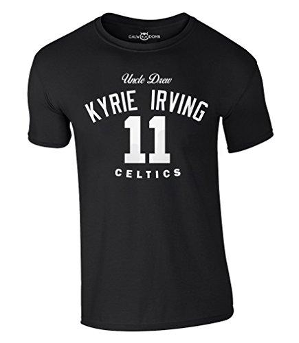 Drew Jersey (Kyrie Irving 11 T-Shirt Uncle Drew Basketball Boston Jersey Trikot Celtics (M, Schwarz))