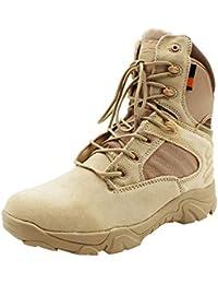uirend Chaussures Travail Militaires Homme - Chaussures Bottines de  Sécurité Bottes Courtes Baskets Montantes Bouts Hommes 84d33a25df95