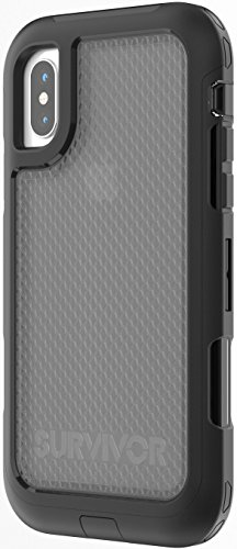 Griffin Survivor Extreme Custodia per iPhone X, Nero