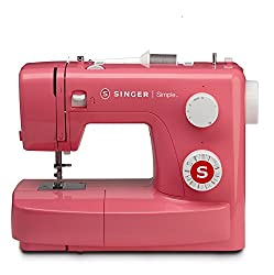 Singer Simple 3223 Red Automatic Sewing Machine Including 23 Built-in Stitches, Sewing Light