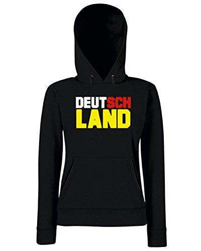T-Shirtshock - Sweats a capuche Femme OLDENG00506 german deutsch germany Noir