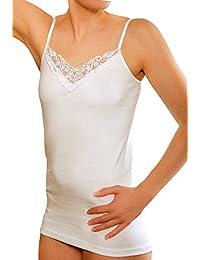 4 Piezas Camiseta interior con encaje, 100% Algodòn