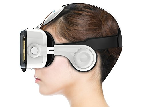 Ocular Grand Fully Adjustable VR Headset With Inbuilt Headphones & 42MM PMMA Lenses (White)