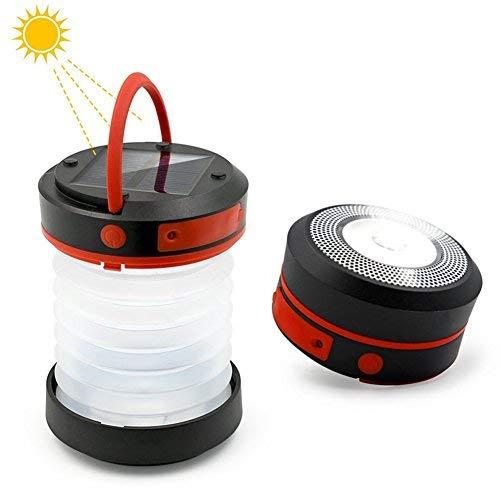 Anera Solar LED Campinglampe, Faltbar Camping Zelt Laterne Wiederaufladbare Tabellelampe Multi-Einsatz,Tragbar und Wasserddicht,Unterstützung Solar-Lade-und USB-Lade