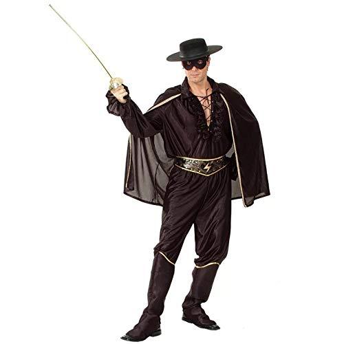 Zorro Kostüm - thematys Zorro Kostüm-Set für Herren - perfekt für Cosplay, Karneval & Halloween - Einheitsgröße 160-180cm