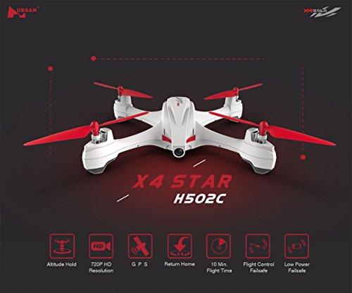 HUBSAN H502C X4 Drone GPS 720p con Cámara Cuadricóptero (H502C)