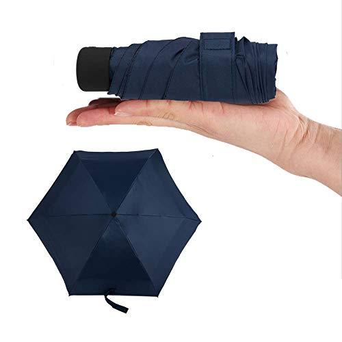 Paraguas Plegable a Prueba de Viento,Plegable Automático De Viaje – 100% Impermeable Antiviento Compacto Apertura Y Cierre Automático Ligero Resistente Protege De Lluvia Viento (Azul)