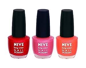 Red Nail Polish, Orange Nail Polish, Pink Nail Polish Combo By NIVE By NIVE