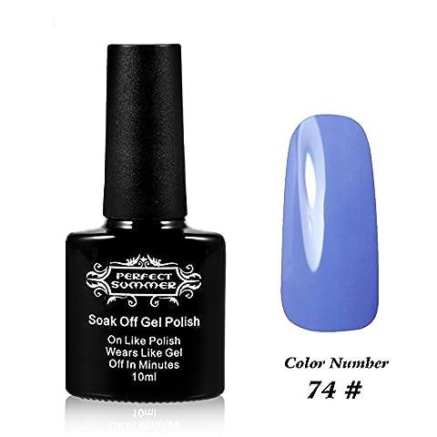 Perfect Summer Shellac GelNagellack UV/ LED 10ml Farben Nagellack Franzoesisch Manikuere Kunst traenken weg #074