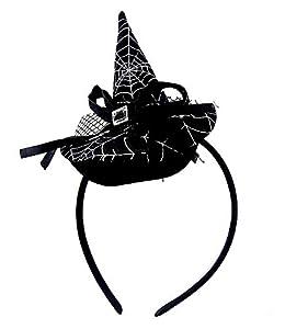 Diadema con aplicación sombrero bruja