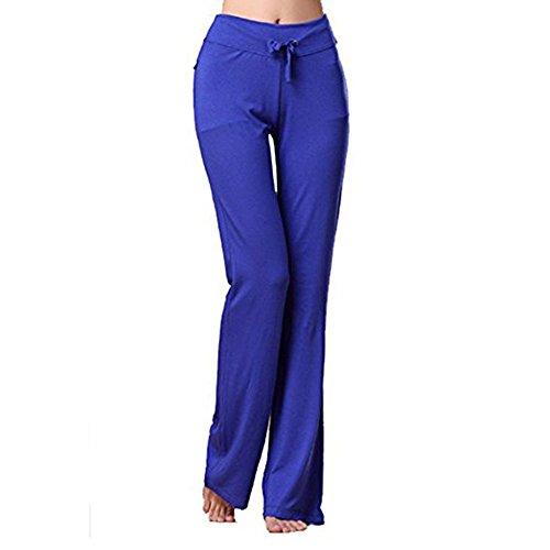 Frauen-Sport-Hosen-Art und Weise Mittlere Taille Normallack-Hosen-bequeme dehnbare elastische Taillen-lose Sitz-Hosen-Hose mit Kordelzug Jeggings für Sport Yoga