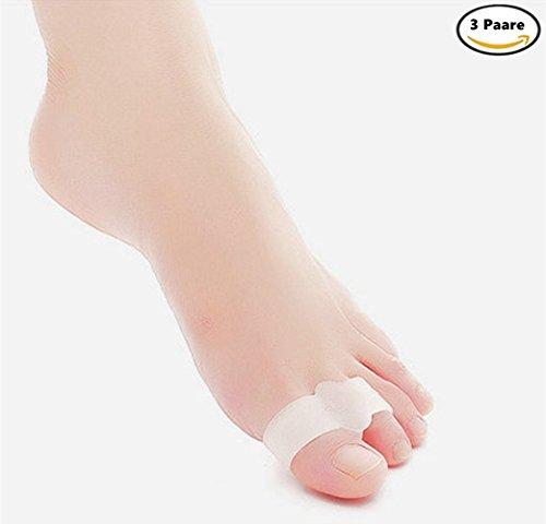 3 paar Zehenspreitzer Gel Bunion Zehenspreizer Toe Straightener Toe Abstandshalter Toe Corrector Toe Stretchers Kissen, Gel Bunion Sleeve Cushion Protector (Abstandshalter Bunions Toe)