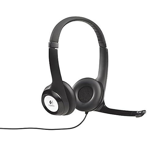 Logitech H390 - Auriculares con micrófono USB (control remoto integrado), negro