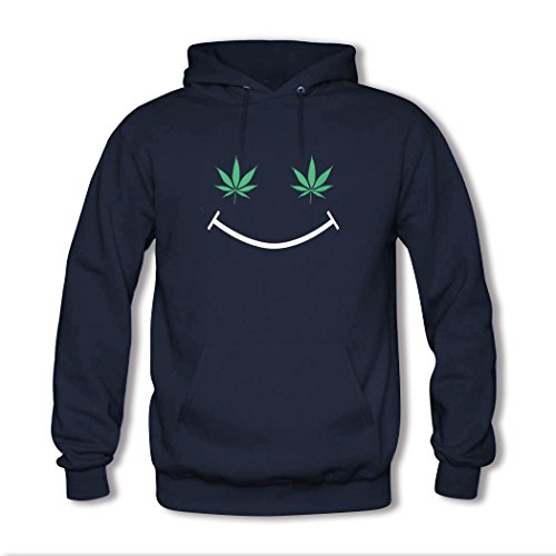 HKdiy Smiley Custom Men's Printed Hoodie Navy-2