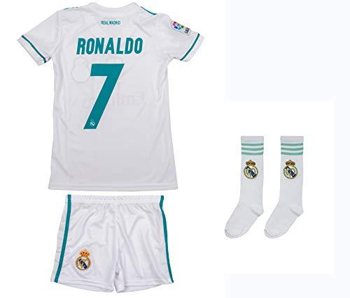ATB Real Madrid #7 Ronaldo 2017/18 Heim Kinder Trikot und Hose (128)