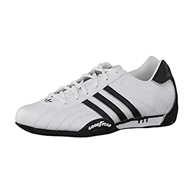 adidas unisex adults 39 adi racer low gymnastics shoes white metallic silver black 12 uk. Black Bedroom Furniture Sets. Home Design Ideas