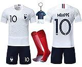 OUJD Maillots de Football Enfant Soccer Jersey 2018 2 étoiles Coupe du Monde Garçon T-Shirt et Short Chaussettes...