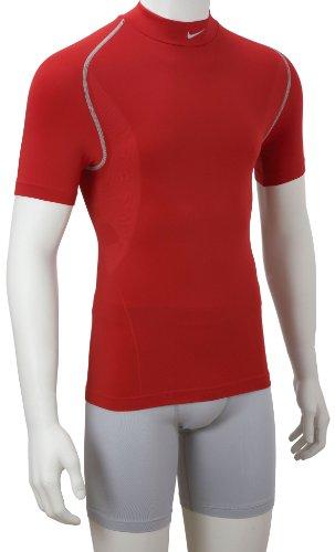 Nike Pro Dri-Coupe-Vent à manches courtes rouge - Rouge