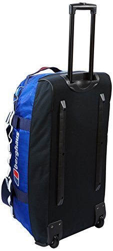 Berghaus Mule 80 Wheeled Holdall Gear Bag Intense Blue Extrem Red