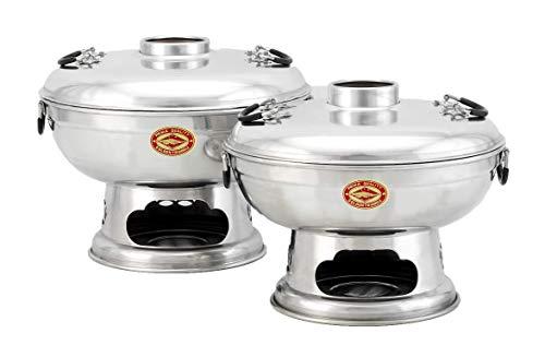 TR A Industries Co. Ltd. Mongole Olla-Hot Pot-Thai Fondue-Fuego-Olla de Tailandia, 20 cm