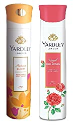 Yardley Autumn Bloom and Royal Red Roses Deodorants, Combo of 2, 150ml. each