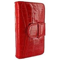 Piel Frama U600COR Krokodil Optik Wallet Ledertasche für Apple iPhone 5/5S rot