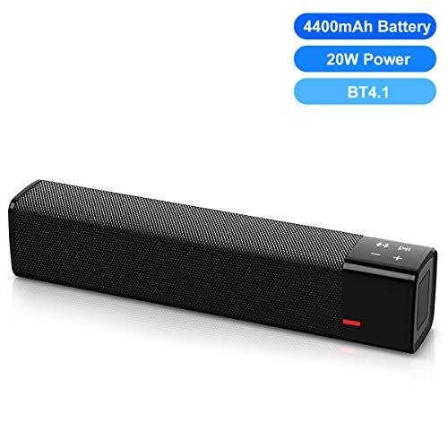 Soundbar Bose Blutooth con Suono Surround Subwoofer Integrato Excelvan Dispositivo Wireless Bluetooth Streaming Telecomando Montabile a Parete Compatibile con Ottica Cavo RCA Incluso Colore Nero