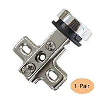 2 X Probrico Kitchen Wine Cabinet Hinges Cupboard Door Hinge Glass To Glass CH101GA
