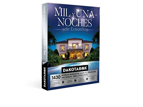 DAKOTABOX – Caja Regalo – MIL Y UNA NOCHES ENSUEÑO – 1430 Hoteles de hasta 5*, haciendas, conventos, palacetes, casas rurales…