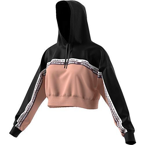 adidas Damen Sweatshirt Cropped Hoodie M Noir (ash Pearl s18/Black) -