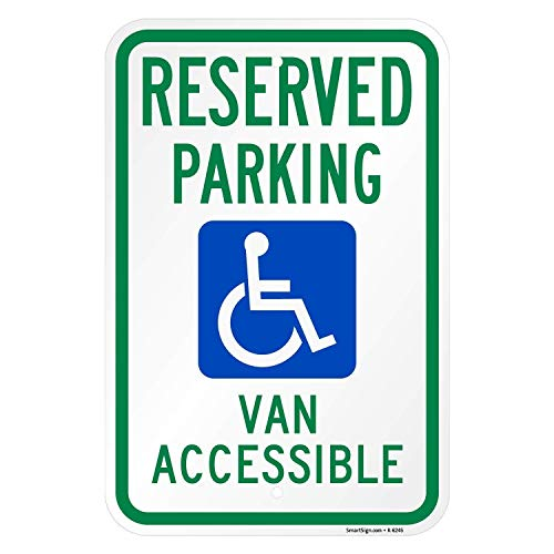 CHI Zitat Metall Schild ADA Behinderte Van zugänglich Aluminium Wand Post Home Dekoration für Auffahrt 30 x 45 cm -