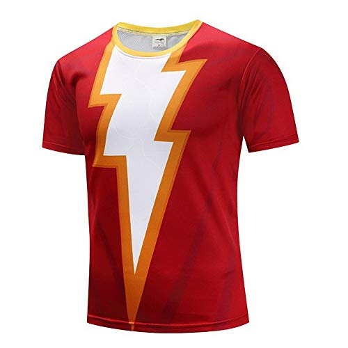 HOOLAZA Avengers Super Heroes Men Kurzärmeliges Kompressions-T-Shirt Shazam Tops (Male Kostüme Super Hero)