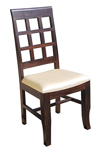 Murliwala Neo Rostov 2-Set Dining Chair with Upholstery (Brown)