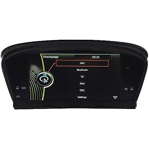 generic8.0pulgadas coche navegación para BMW 5er E60E61E63E6420032004200520062007200820092010/M520032004200520062007200820092010CD de coche reproductor de DVD de navegación GPS RDS ipod Bluetooth Phondbook AUX ATV volante Control Canbus estéreos Audio Video Radio Multimedia