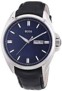 Hugo Boss - 1512877 - Montre Homme - Quartz Analogique - Bracelet Cuir Noir