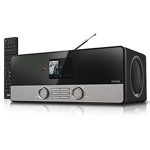 Hama Internetradio Digitalradio DIR3100M (WLAN/LAN/DAB+/DAB/FM, 2,8 Zoll Farbdisplay, Fernbedienung, USB-Anschluss mit Lade- und Wiedergabefunktion, Weck- und Wifi-Streamingfunktion, Multiroom, gratis Radio App), schwarz