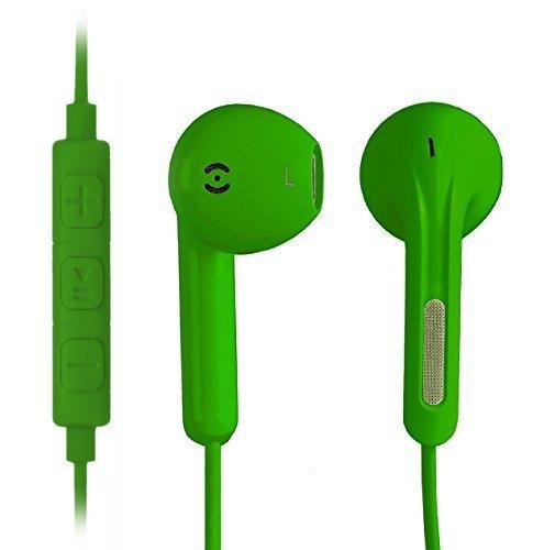 iprotect ® Premium Kopfhörer in Ear in grün - Headset für alle Modelle wie z.B. Sony, Samsung, LG, Huawei, HTC, uvm. | Sport Kopfhörer | Ohrhörer