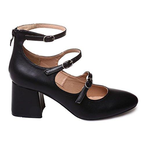 La Modeuse - Escarpins aspect cuir Noir
