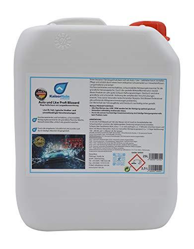 Premium Auto Waschmittel Autoschampoo Active + 2,5 L Kanister Auto und Lkw Profi Blizzard Mega Haftschaum mit Langzeitkonservierung