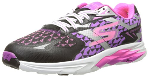 Skechers Go Run Ride 5, Chaussures Multisport Outdoor Femme Noir (Bkpr)