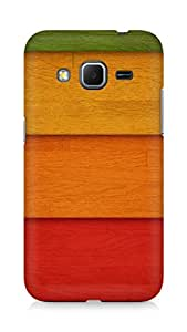 Amez designer printed 3d premium high quality back case cover for Samsung Galaxy Core Prime (Strips of colored wood)