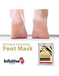 4 x Hornhautsocken - Fußpeeling Maske zur Entfernung von Hornhaut - samtweiche und zarte Füße nach nur einer Anwendung/Fuß Hornhautentferner by BLISSANY (2 Paar)