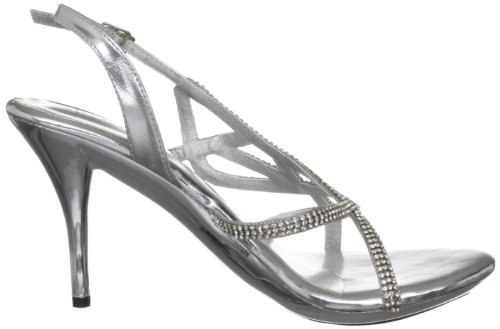 Unze Evening Sandals, Sandali donna Argento (Silber (L18234W))
