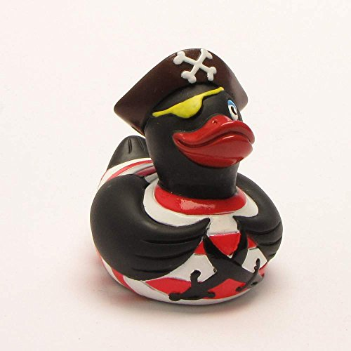 Rubber Duck Pirate black   anatra di bagno   paperella di bagno   anatra di gomma   Gioco per il bagnetto
